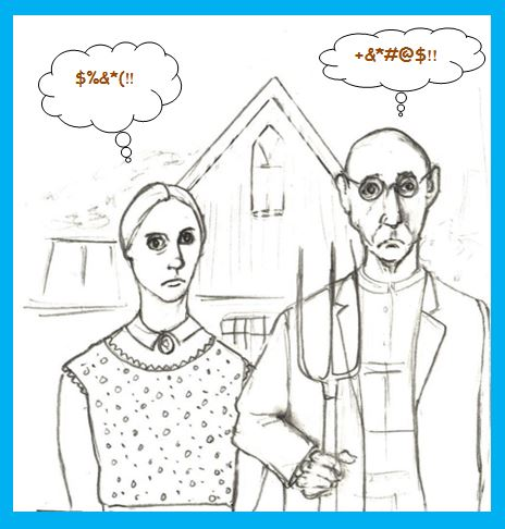 One-Panel: American Gothic