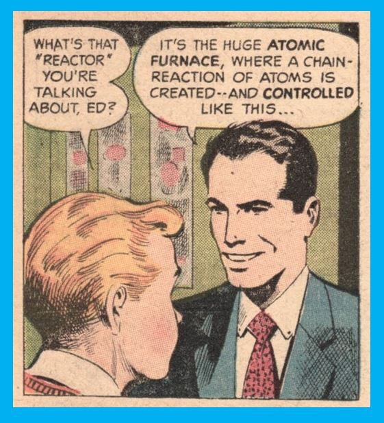 Cartoon from 50s comic book on atomic power