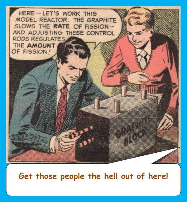 Cartoon from 50s comic on atomic energy