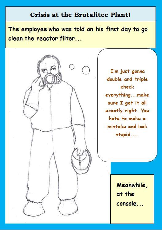 Cartoon of Hazed Employee