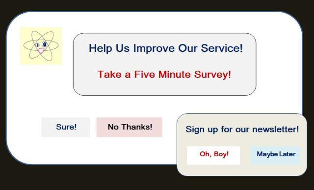 Cartoon of Website Survey
