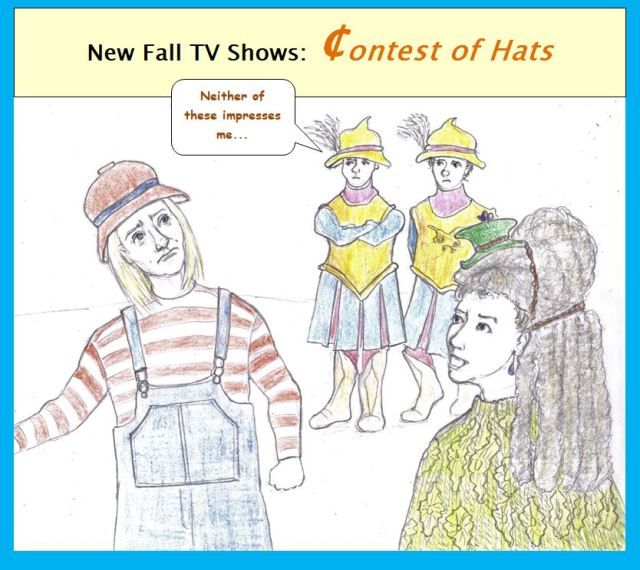 Cartoon of angry people wearing funny hats