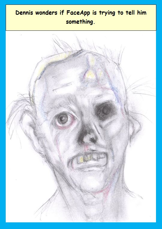 Cartoon of decayed face