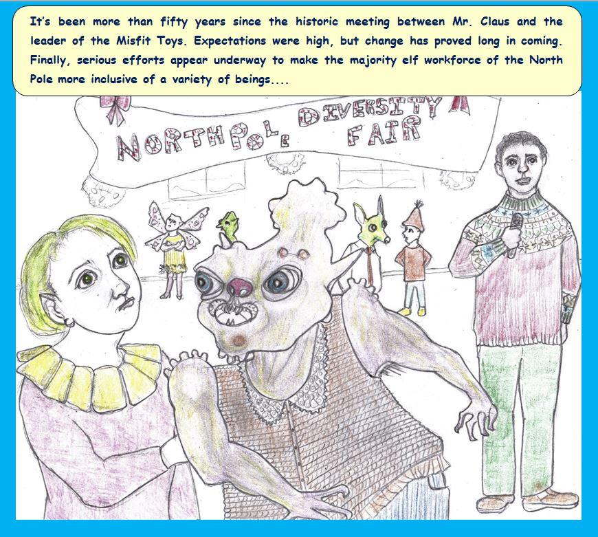 Cartoon of North Pole Diversity Fair