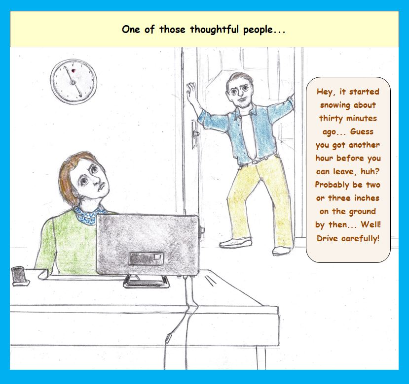 Cartoon of office workers