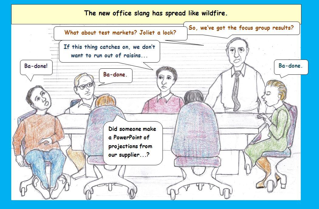 Cartoon of office meeting