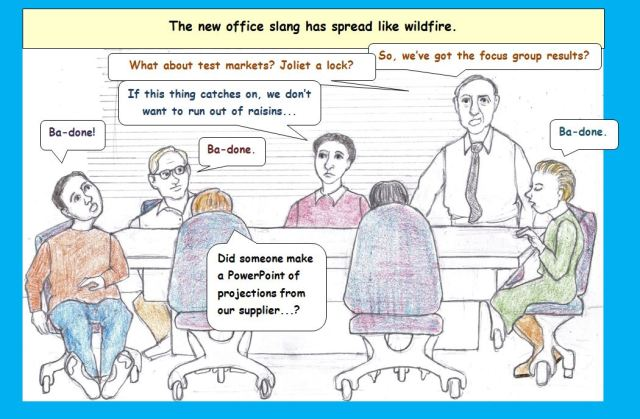 Cartoon of office meeting