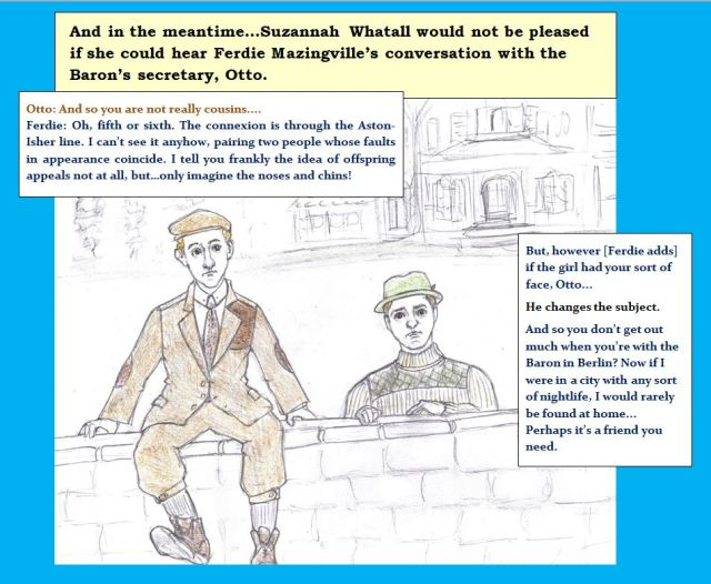 Cartoon of two young men talking