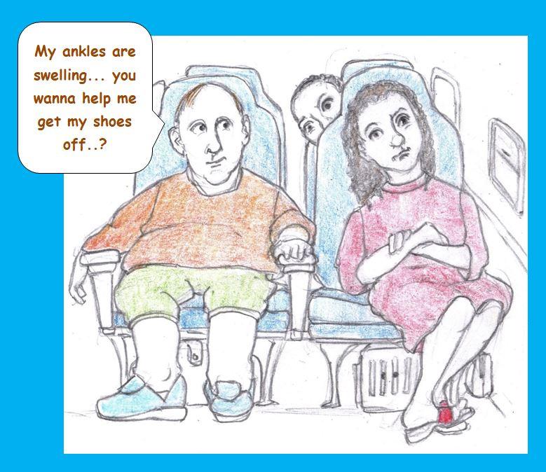 Cartoon of airline passengers