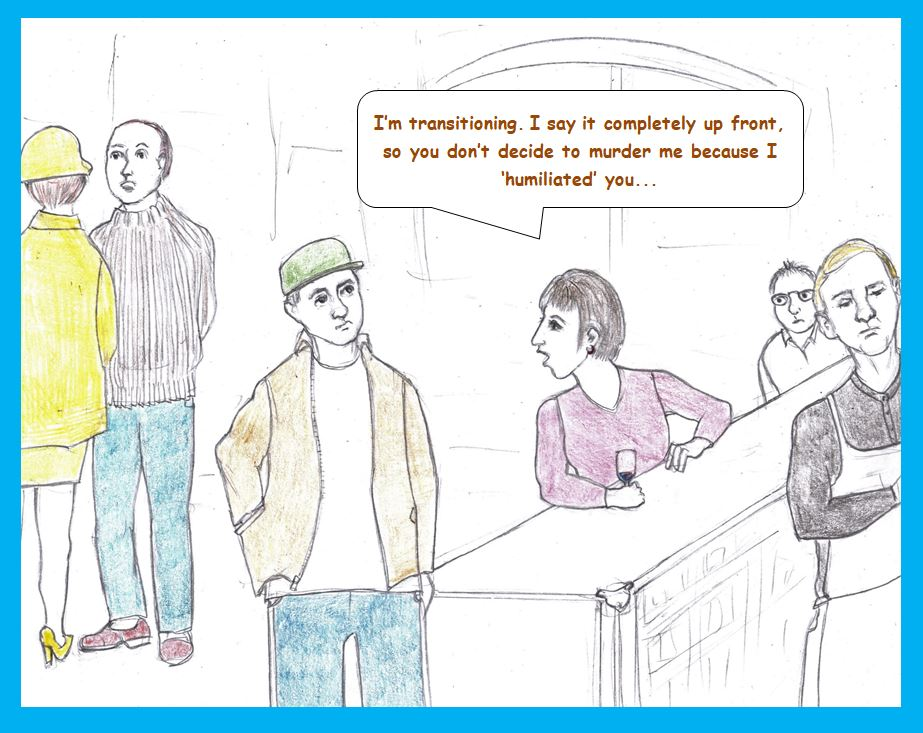 Cartoon of bar scene