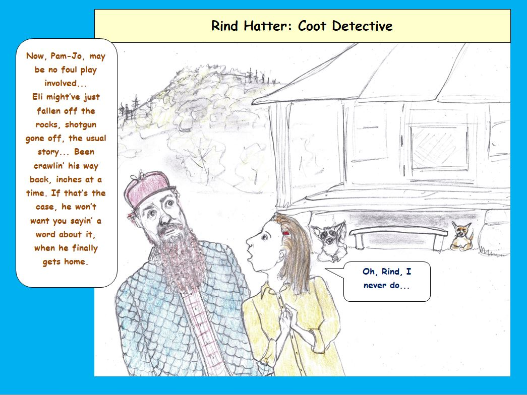 Cartoon of country detective