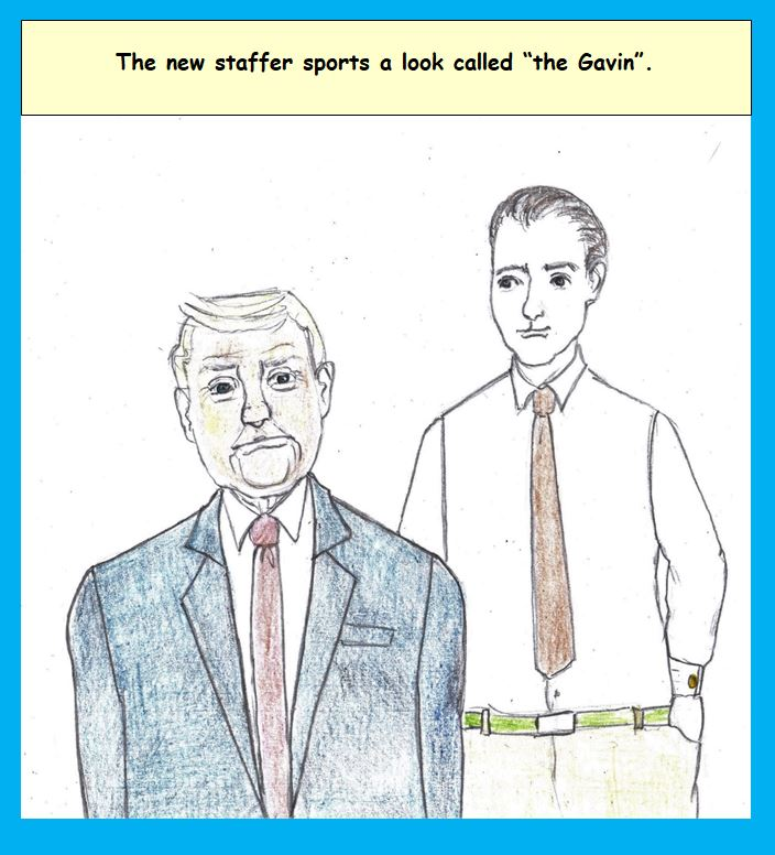 Cartoon of new Trump staffer