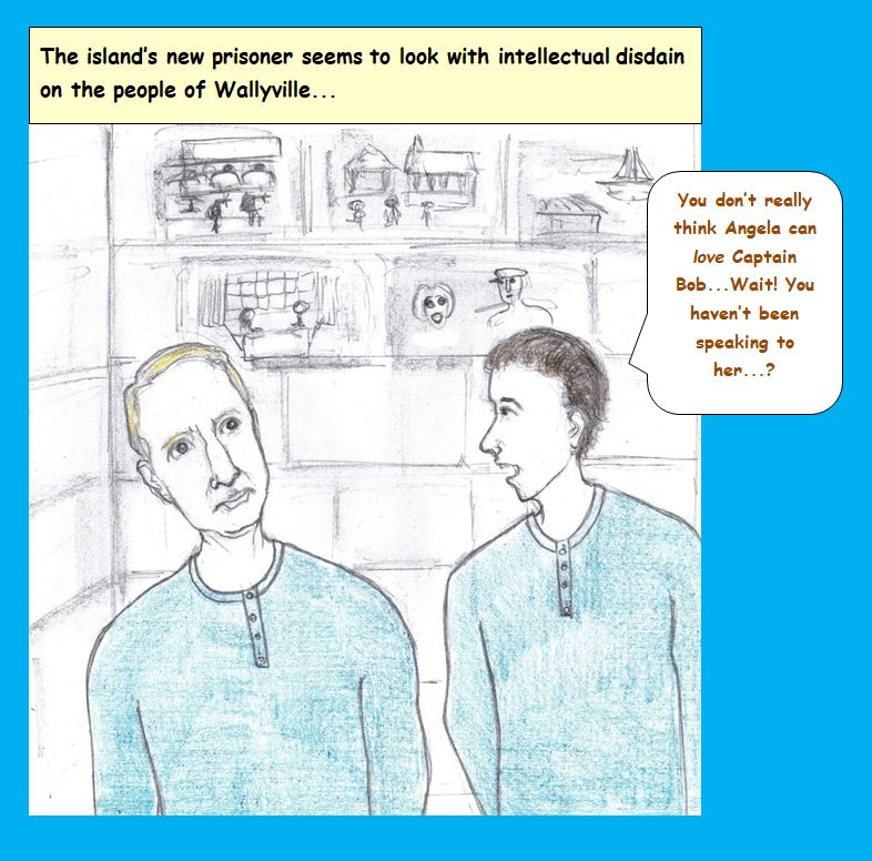 Cartoon of two prisoners talking