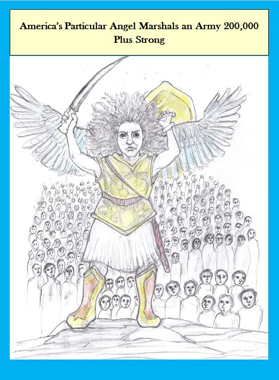 Cartoon of Angel and Covid victims